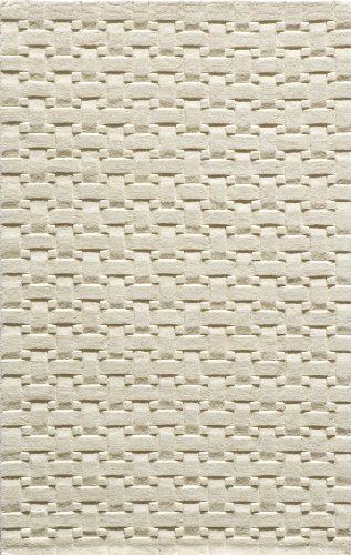 Momeni Rugs METROMT-21IVY80B0 Metro Collection, 100% Wool Hand Loomed Contemporary Area Rug, 8' x 11', Ivory ()