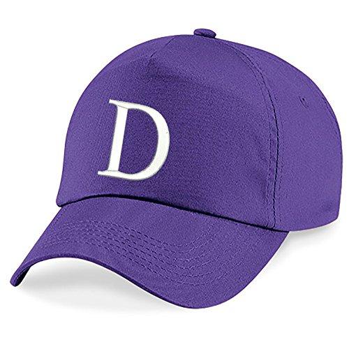 Escuela Z Niños Hat Bordado Claro D Niños A Alphabet Púrpura Gorra 4sold 8xCn5