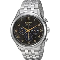 Seiko Men's 'Solar Chronograph' Quartz Stainless Steel Casual Watch