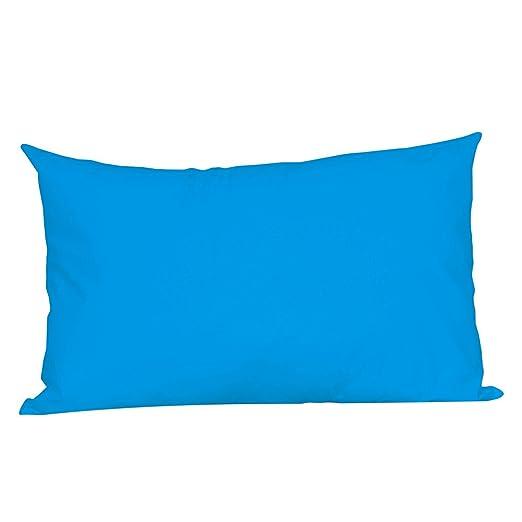 Loolik Fundas de Cojines,Rectángulo de Color Sólido Throw Pillow Case Funda de Almohada para Cojín 30 x 50 CM (Azul)
