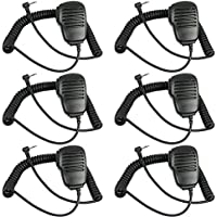 TENQ® Rainproof Shoulder Remote Speaker Mic Microphone PTT for Motorola Talkabout Walkie Talkie Two Way Radio 1pin
