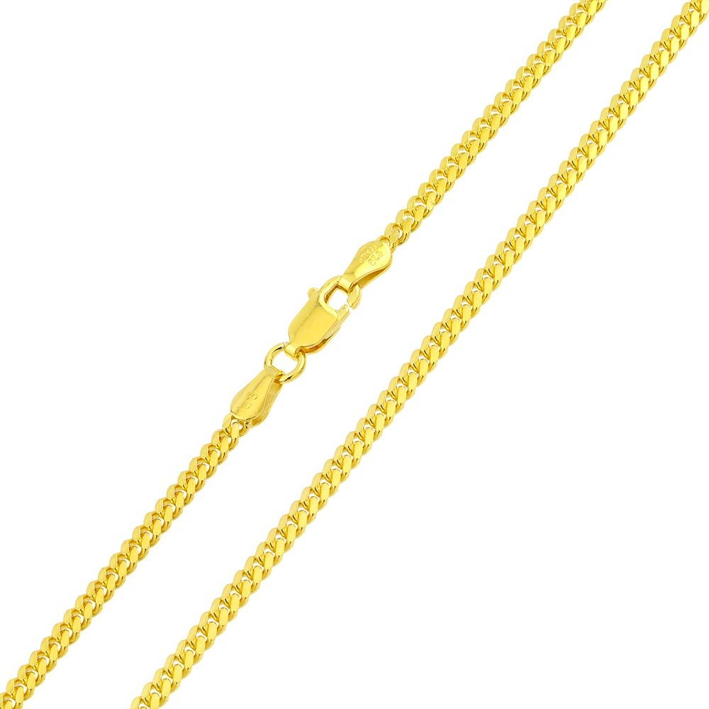 CloseoutWarehouse Yellow Gold-Tone Plated Sterling Silver Miami Curb Chain Link 4.6mm