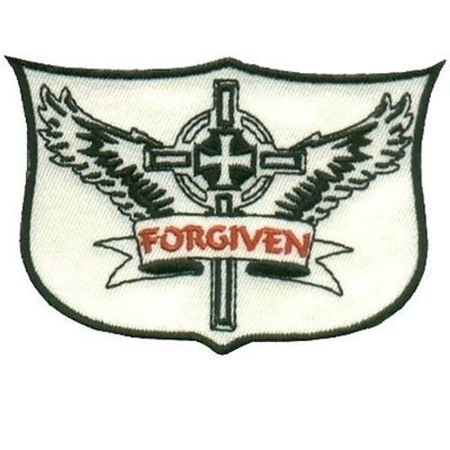 FORGIVEN CHRISTIAN Bible Jesus Church God Embroidered Biker Vest Patch PAT-0657 heygidday