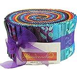 Bali Batik Sundrenched Pinwheel 40 2.5-inch Strips Jelly Roll Benartex