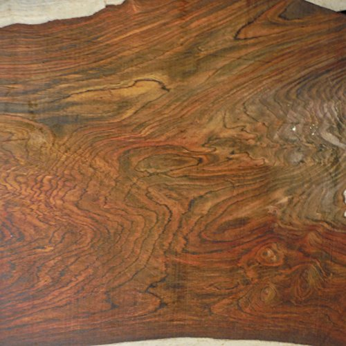 (super figured Cocobolo Rosewood, planed 1.25 inches thick ONE BOARD FOOT)