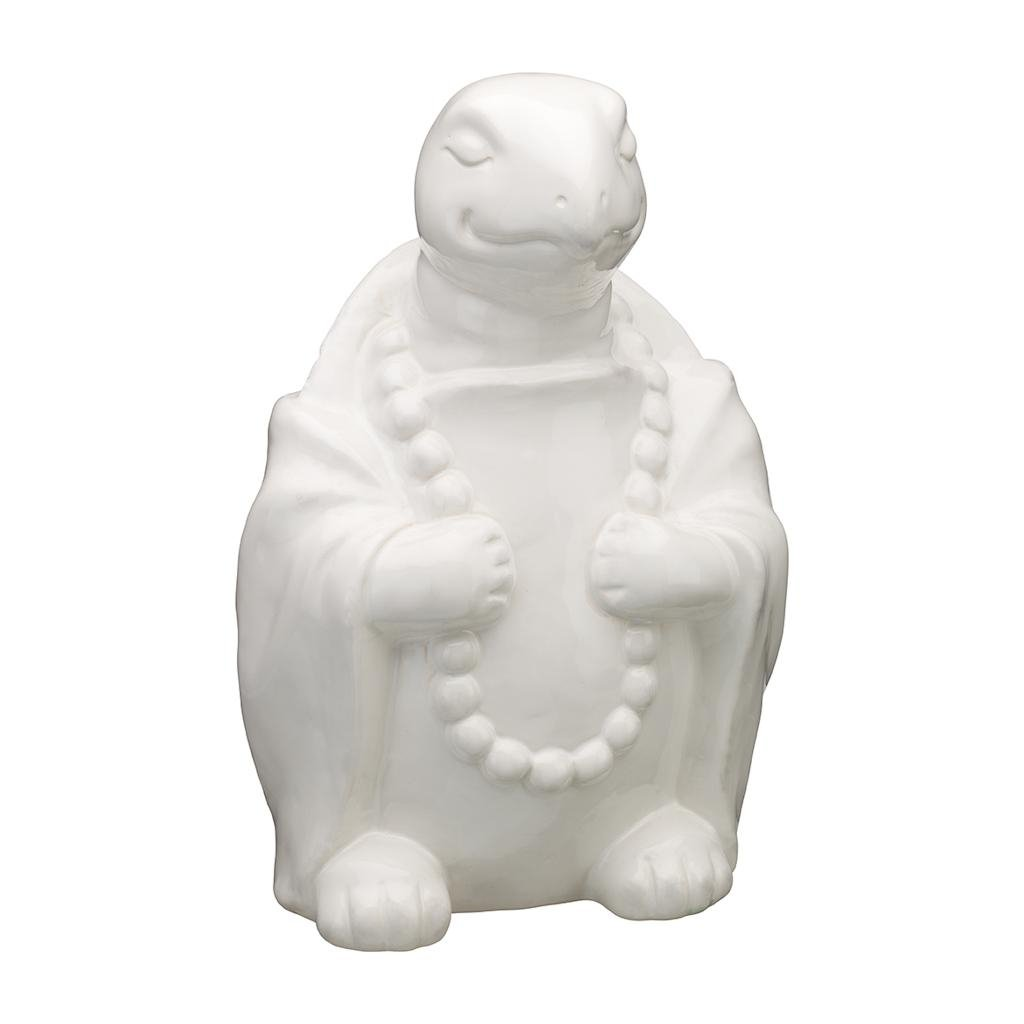 Regal Art & Gift 8.5 Inches x 6.5 Inches x 11.75 Inches Zen Statuary Turtle Porcelain
