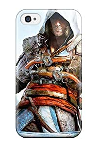 New Arrival Case Cover With JzZMwoY4113GgsAk Design For Iphone 4/4s- Assassins Creed Black Flag