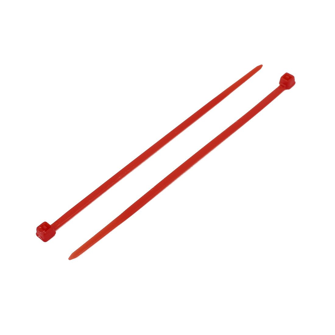sourcing map 3mm x 100mm Nylon auto-bloquant attaches c/âble fil industriel liens Zip Rouge 100pcs