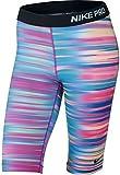 Nike Women's Dri-Fit Pro Core Three-D 11' Training Shorts-Blue Lagoon/Fuchsia Flash-XS