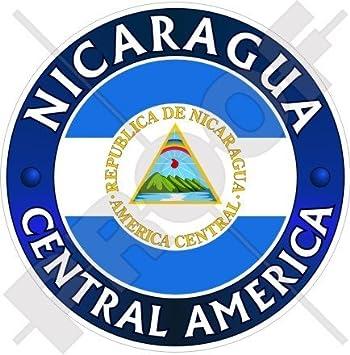 Nicaragua América Central nicaraguense 100 mm (4) vinilo Bumper, adhesivo
