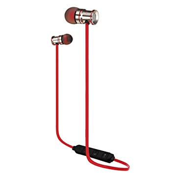 IRISH Auriculares Bluetooth Deporte Metal Deporte Auriculares impermeables Auriculares inalambricos Auriculares estereo Con micrófono (Oro