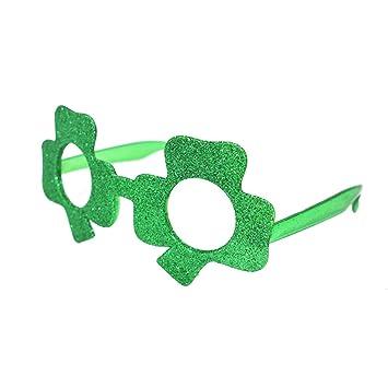 12 x Grün Kleeblatt Form St. Patricks Tag Kinder Kinder Sonnenbrille U2w08