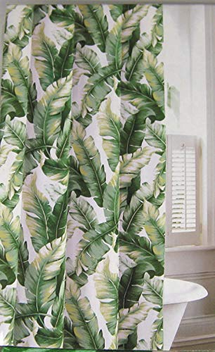 - Tommy Bahama Shower Curtain Tropical Banana Leaves 100% Cotton 72