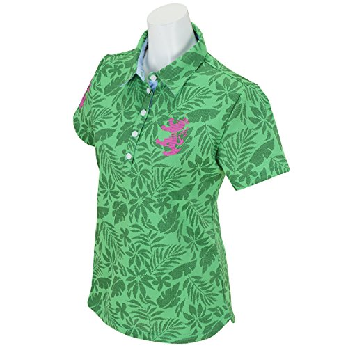 アドミラル Admiral 半袖シャツ?ポロシャツ リーフジャガード 共衿半袖ポロシャツ レディス グリーン 60 S