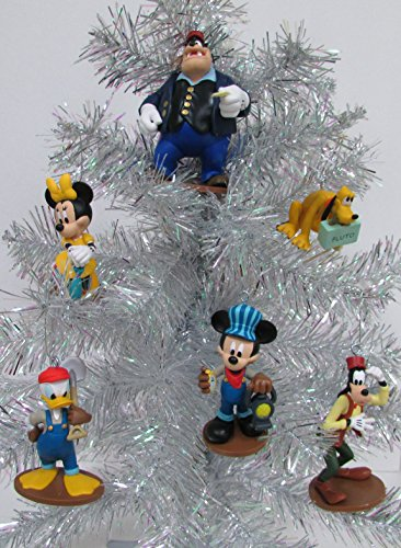Disney Mickey Mouse Clubhouse Train 6 Piece Ornament Set, Featuring Mickey, Pete, Goofy, Donald, Minnie and Pluto