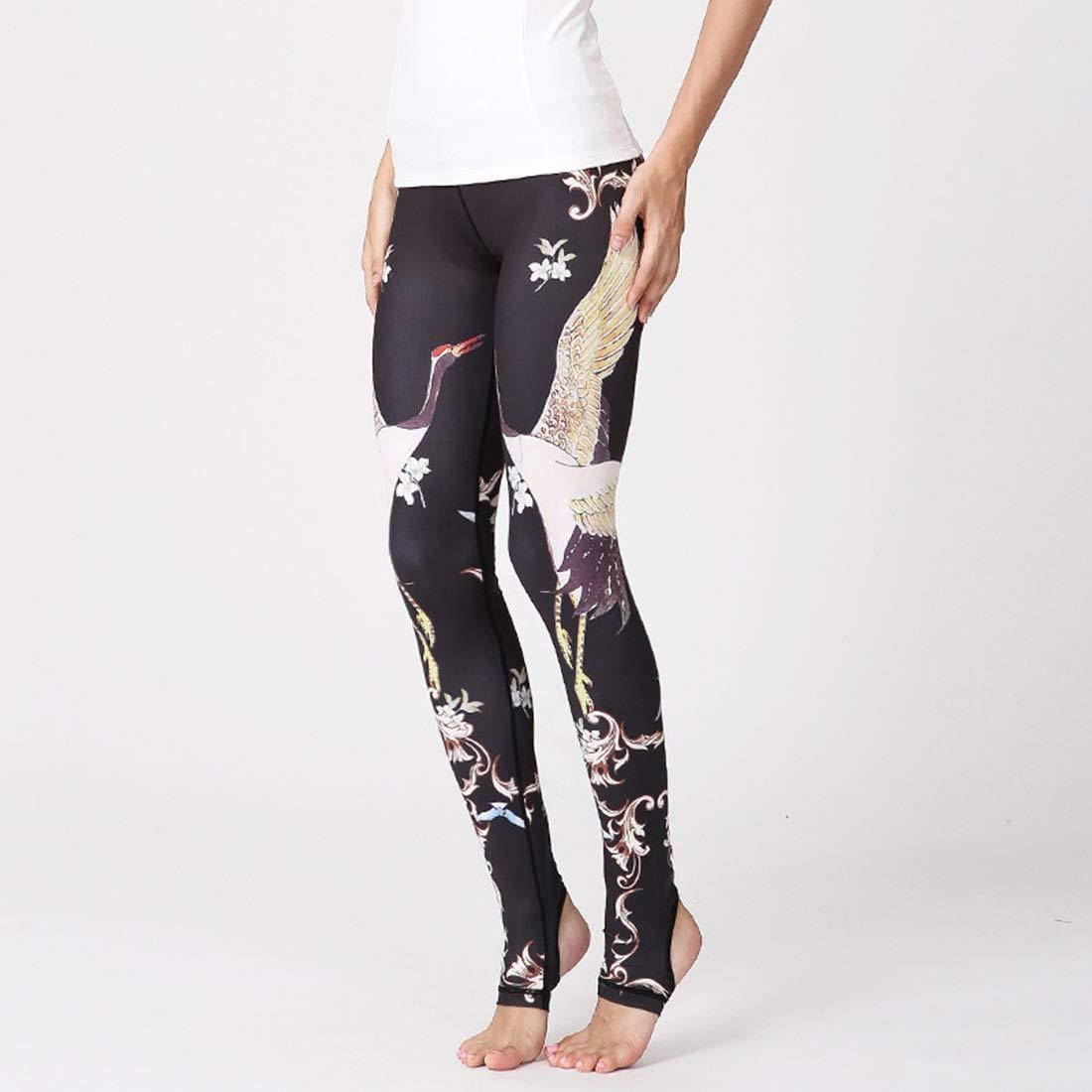 A003 Huayue Yoga Pants Women's Printed Elastic Slimming Fitness Riggoldus Pants
