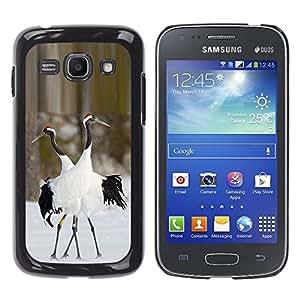 Caucho caso de Shell duro de la cubierta de accesorios de protección BY RAYDREAMMM - Samsung Galaxy Ace 3 GT-S7270 GT-S7275 GT-S7272 - Winter Nature Couple Valentines