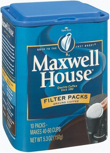Maxwell House Filter Packs Ground Coffee 10 Count Canisters Pack Of 6