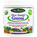 Paradise Hebs - ORAC Energy Greens - Organic Pesticide Free Powdered Green Superfood - 3.2 ounce 15 Servings