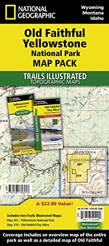 - Old Faithful, Yellowstone [Map Pack Bundle] (National Geographic Trails Illustrated Map)
