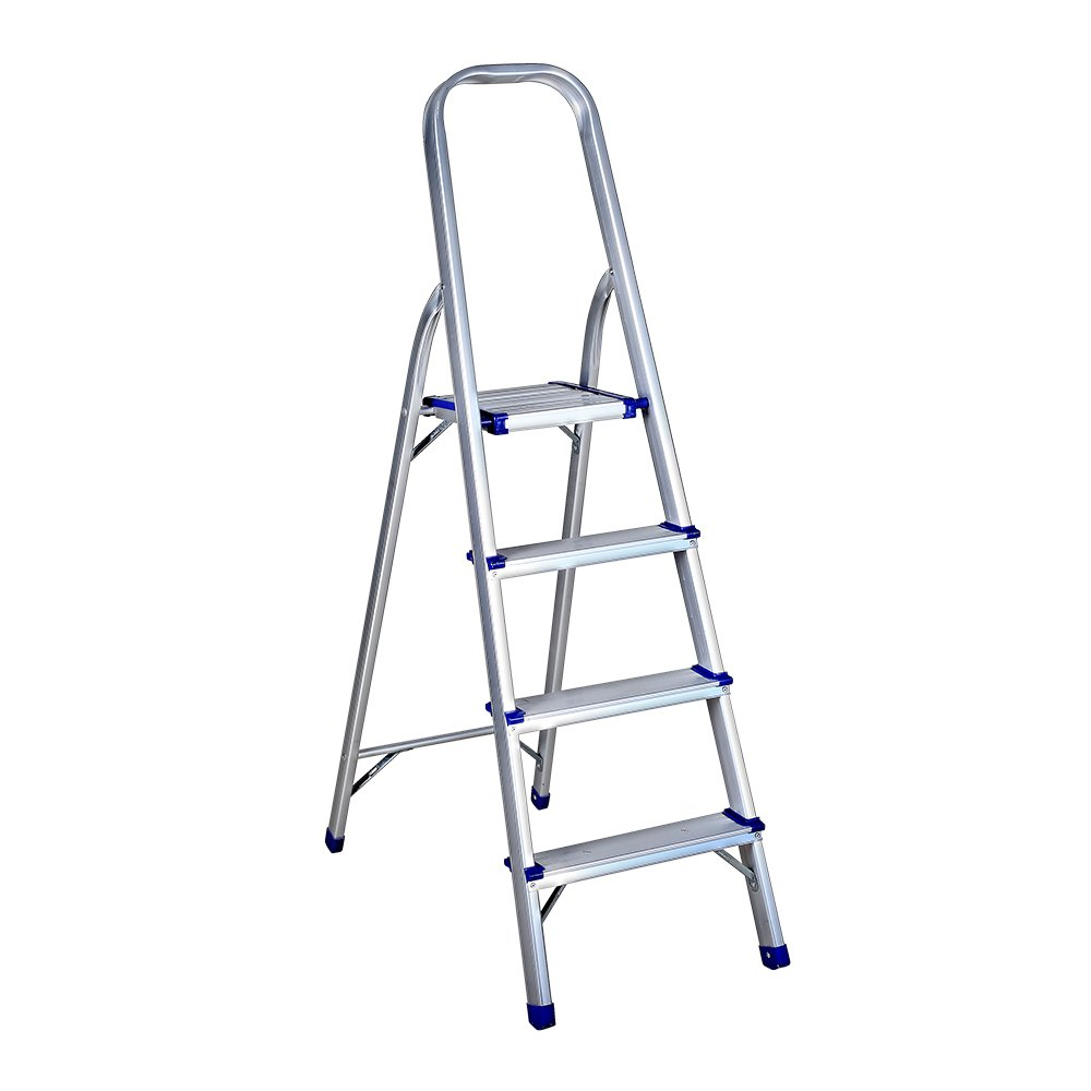 1208S Portable Folding Step Ladder with 330lbs Duty Rating for Household, Thickening Aluminum