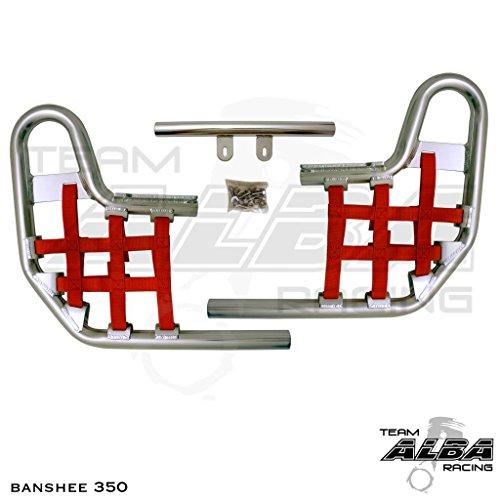 Yamaha Banshee YFZ 350 (1987-2006) Standard Nerf Bars Silver Bars w/ Red ()