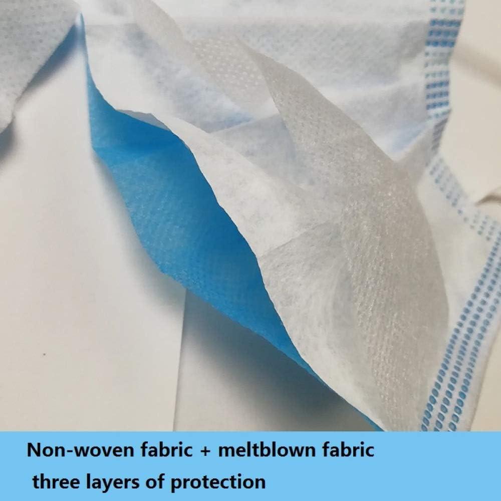 Zhongyu Protezione monouso Pad di Protezione Orale Blu 50PCS Pad di Protezione per Il Viso Pad per Auricolare Traspirante Antipolvere Tessuto Non Tessuto a Tre Strati Resistente alla Polvere