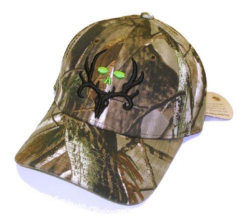 Bone Collector Camo Fitted Logo Cap Deer Hunting HAT   Realtree AP   M/L Size - Deer Logo Cap