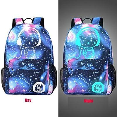 Noctilucent Backpacks,Hemlock Teen Noctilucent Star School Bags Student Backpack