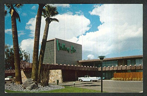 1957 Mercury convertible at Valley Ho Hotel Scottsdale AZ postcard 1950s
