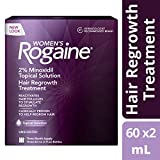 Womens Rogaine Treatment for Hair Loss & Hair Thinning Minoxidil Solution, Three Month Supply