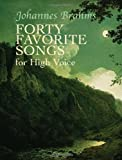 Forty Favorite Songs for High Voice, Johannes Brahms, 0486435776