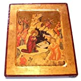 Nativity of our Lord Icon with sheets of Gold (Lithography) (12 inches)