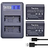 Tectra 2 Pack NP-W126 NP W126s Replacement Battery + Rapid LCD Display Dual USB Charger for Fuji FinePix HS30EXR,HS33EXR,HS50EXR,X-A1,X-A3,X-E1,X-E2,X-M1,X-T1,X-T2,X-T10,X-Pro1,X-PRO2