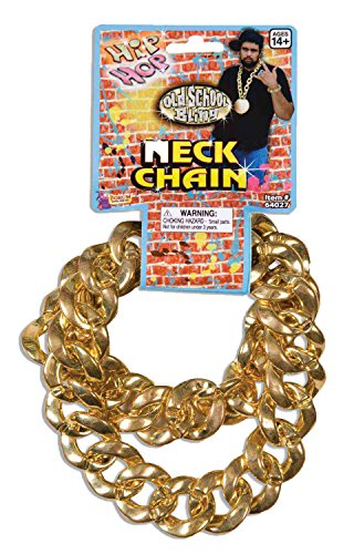 Plastic Chain Link Necklace - 80'S Big Links Neck Chain Gold
