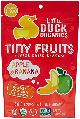 Little Duck Organics Tiny Fruits-Apple and Banana-0.75 Ounces-6 Pack