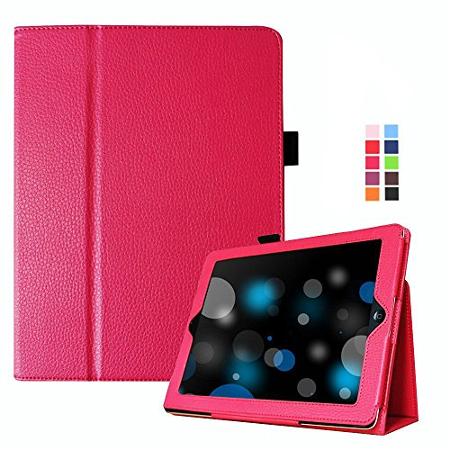 Smart Leather Cover Case for Apple iPad 2/3/4 (Hot Pink) - 4