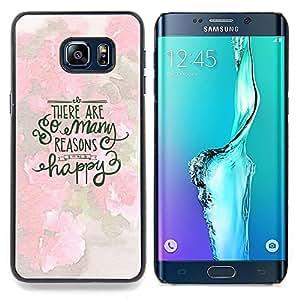 "For Samsung Galaxy S6 Edge Plus / S6 Edge+ G928 Case , Feliz inspirada motivación Primavera"" - Diseño Patrón Teléfono Caso Cubierta Case Bumper Duro Protección Case Cover Funda"