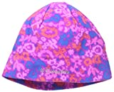 Columbia Big Girls' Youth Glacial Fleece Hat, Bright Plum Floral Print, Large/X-Large