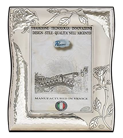 ROSE Silver Photo Frame Picture Original Made in Italy Venice Handcraft Photo ca. 5x7Inch
