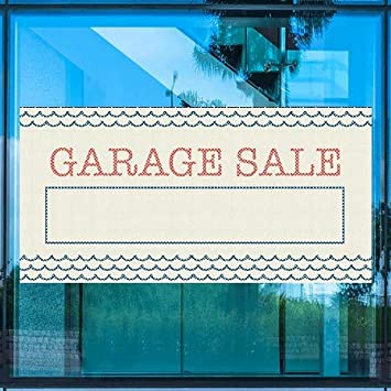 5-Pack Garage Sale CGSignLab Nautical Waves Perforated Window Decal 96x48