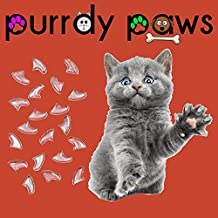 40-Pack Clear Soft Nail Caps For Cat Claws * Purrdy Paws Brand (Medium)