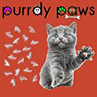 40-Pack Soft Nail Caps for Cat Claws Clear Small Purrdy Paws