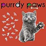 40-Pack Soft Nail Caps For Cat Claws CLEAR LARGE Purrdy Paws