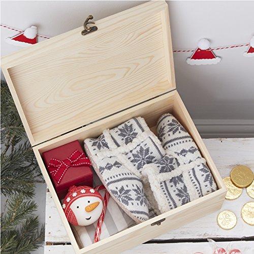 Santa and Friends Ginger Ray Wooden Christmas Eve Engraved Box Keepsake Present