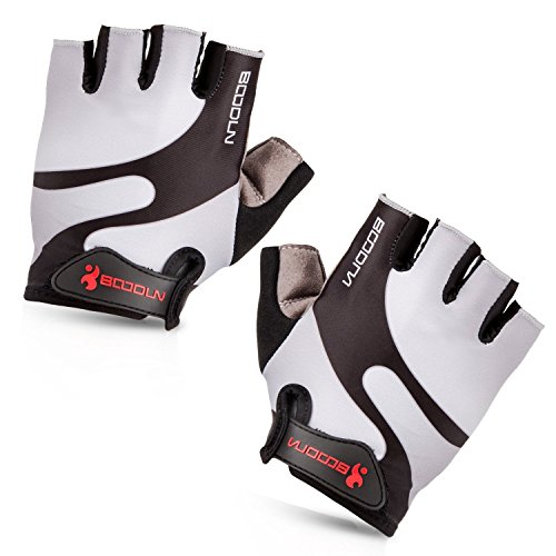 Cycling Gloves with Shock-absorbing Foam Pad Breathable Half Finger Bicycle Gloves Bike Gloves B-001 by Maso...