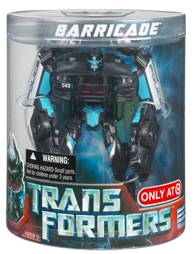 Transformers Movie Deluxe Exclusive Figure in Canister Barricade