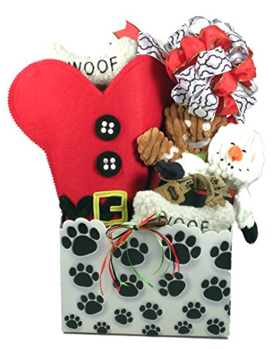 Santa Paws, Christmas Gift Basket For Dogs (Dog Toy Gift Baskets)