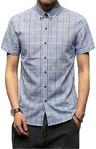 シャツ メンズ 半袖 ギンガム チェック柄 クールビジ ボタンダウン カジュアル 全5色