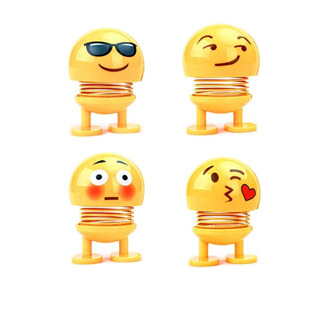 Kaptin 8 PCS Emoticon Spring Doll Smiling Face Spring Doll Shaking Head Dancing Doll Toy Bouncing Doll Desktop Doll Kids Party Favors Bounce Figure Dashboard Spring Figure Car Spring Doll by Kaptin (Image #6)